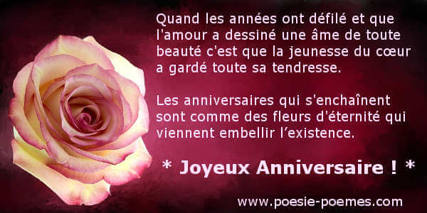 po me bon anniversaire une personne g e messages d. Black Bedroom Furniture Sets. Home Design Ideas