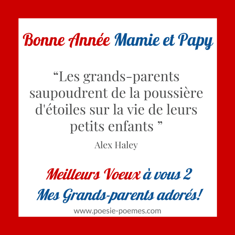 Citation bonne année grands-parents