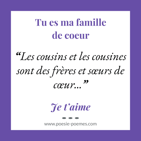 Beau Message Cousin Ou Cousine Poemes Citations Cousins Cousines